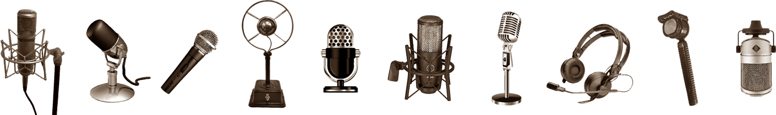 Line of microphones