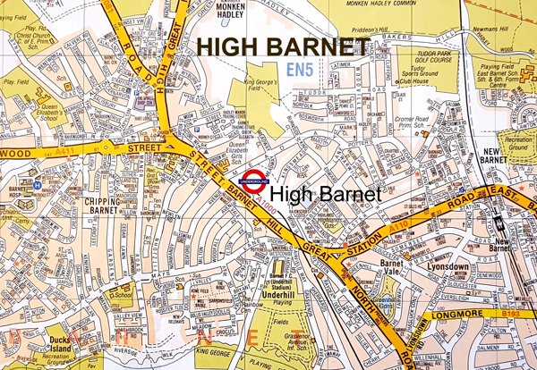 Barnet on the map