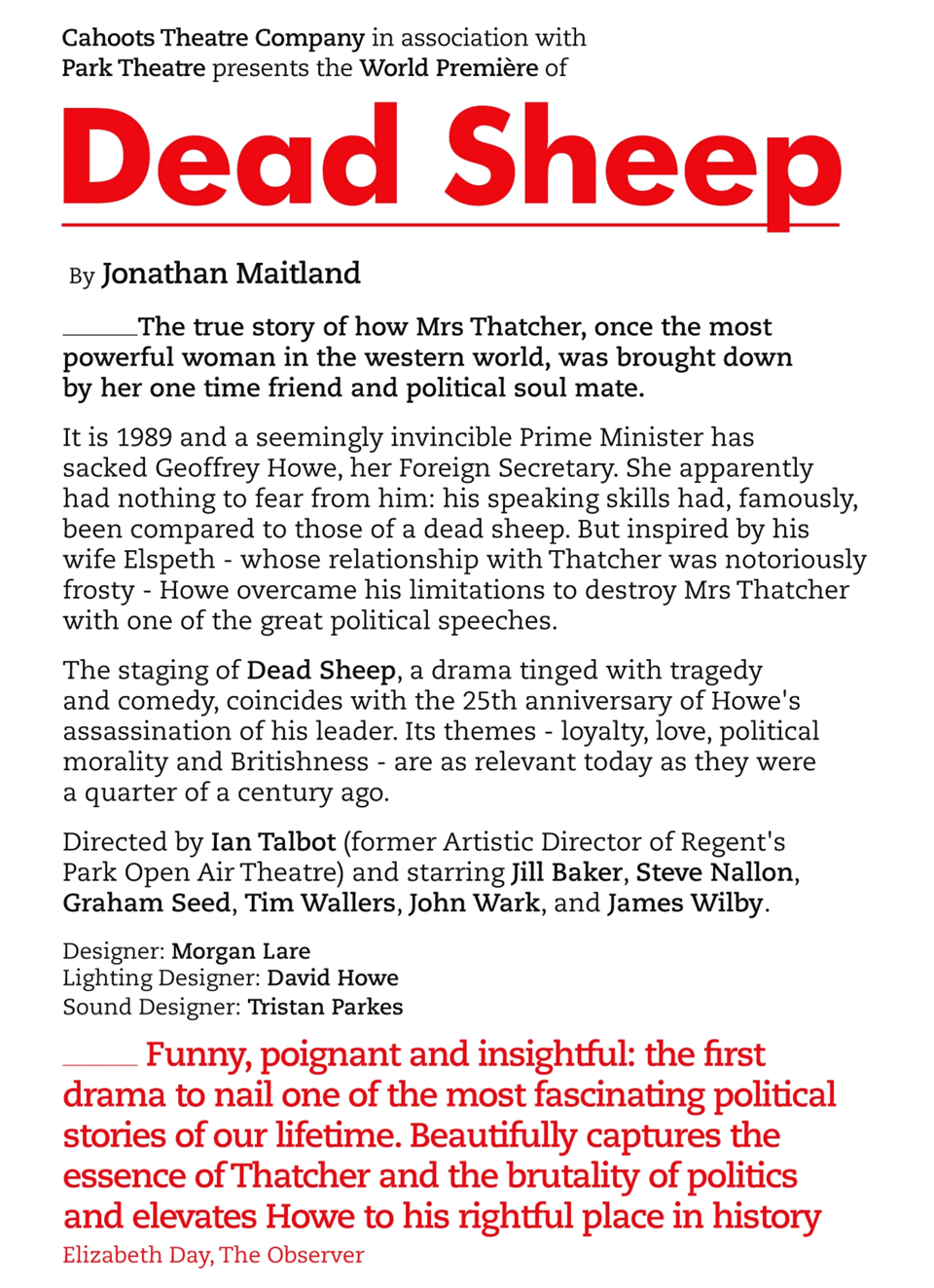 Dead Sheep Thatcher poster2