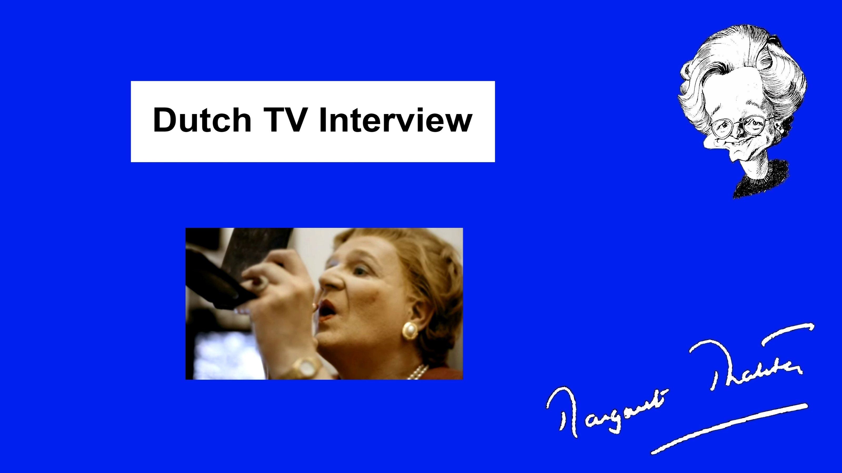 SPITTING IMAGE: Dutch TV Interview