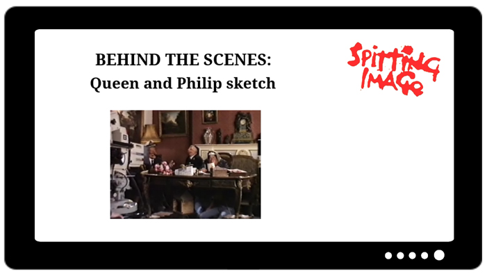 Behind the scenes footage Queen and Philip Sketch.