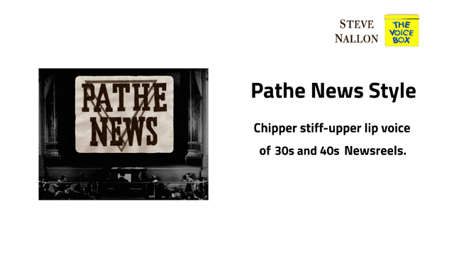 Pathe Newsreel in a 30s and 40s Style