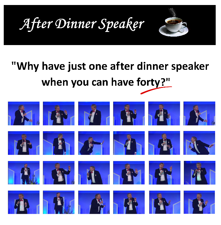Corporate after dinner speaker